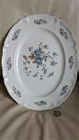 Staffordshire Blossomtime Blue 14 inch plate