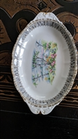Royal Albert Silver Birch porcelain serving tray