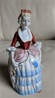 Hard porcelain woman Japanese call bell