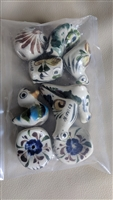 Mexican pottery birds and owls decorative accents