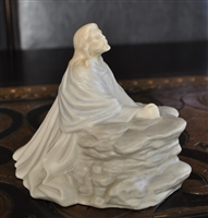 Praying man porcelain mold in pastel colors