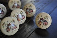 Vintage porcelain drawer cabinet knobs Japan