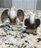 Bald Eagles salt and pepper shakers porcelain