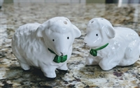 Vintage porcelain sheep salt and pepper shakers