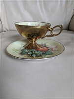 Porcelain teacup and saucer from Maruichi Japan