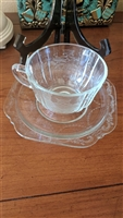 Indiana Glass Recollection teacup and saucer set