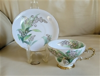 Chubu Japan porcelain teacup and saucer set