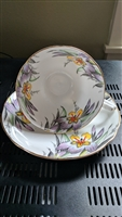 George Proctor Co Gladstone Iris teacup and saucer