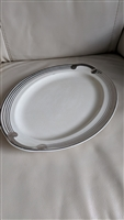 Taylor Smith Taylor platinum rim serving plate