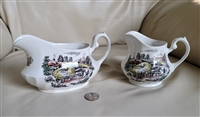 Yorkshire Ironstone creamer and gravy boat English