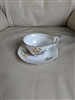 English porcelain teacup and saucer by Vanderwood