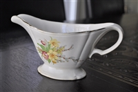 Edwin Knowles scalloped gravy boat Spring floral