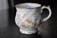 Floral coffee cup Harleigh England