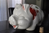 Hull pottery vintage Pig money bank