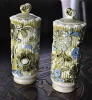 Inarco Japan floral tall salt and pepper shakers
