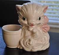 Hull porcelain Kitten flower planter