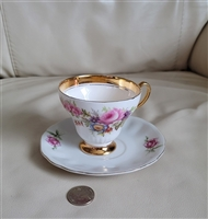 Foley and Royal Minster English teacup saucers