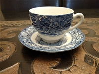 Staffordshire porcelain teacup Liberty Blue