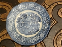 Liberty Blue Staffordshire butter bread plate