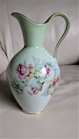 Imperial Germany porcelain floral pitcher ewer