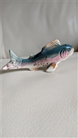Japanese porcelain trout or salmon fish shaker