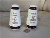 Vintage salt and pepper shakers for Mom and Dad