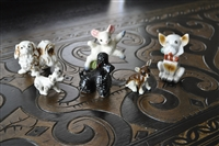 Vintage porcelain and clay animals