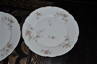 "Theodore Haviland, Limoges, Roses dinner plate 10"" . Set of two."