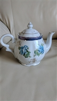 Trimont Ware porcelain teapot with floral accents