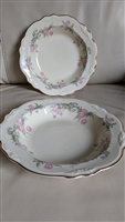Virginia Rose by Homer Laughlin two rim bowls