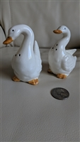 Porcelain ducks or geese shakers set