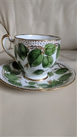 Royal Steward English leaves decorated cup saucer