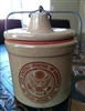 Vintage stoneware jar with USA SEAL decor