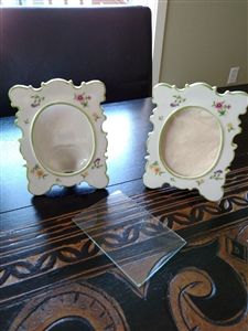 Vintage porcelain picture frames, Japan