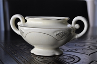 Homer Laughlin cream color sugar bowl 1941
