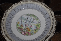 Silver Birch by ROYAL ALBERT, fruit/dessert bowl plus bread and butter plate.
