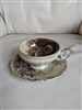 Porcelain teacup and sauce Pinecones decor