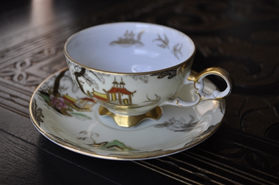 Lefton porcelain teacup and saucer