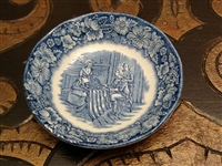 Staffordshire fruit/desert bowl in Liberty Blue pattern.