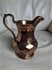 Wade England porcelain pitcher gold copper tone