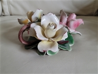 Capodimonte porcelain candle holder