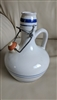 Italian ceramic soda bottle toggle closure decanter