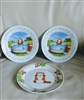 Rascal Nippon Animation collectible plates set of
