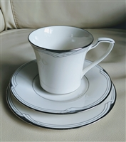 Silver Cove Noritake teacup saucer and plate set