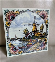 Holland Windmill colorful tile made by MOSA
