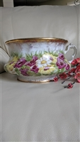 Laughlin 1900 floral chamber pot porcelain floral