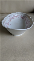 German porcelain relish plate floral decor
