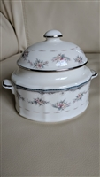 Noritake Traviata porcelain lidded sugar bowl