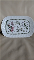 Botanical decor porcelain plate Andrea by Sadek