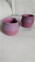 Van Briggle Art Pottery pitcher and cup or sugar